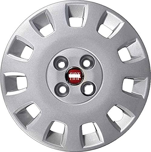 AUTOFORNITURE ITALIA 1 tapacubos para rueda de 14 pulgadas, con logotipo rojo, idea – Punto Classic