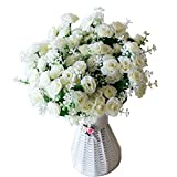 Artificiale falso fiori finti Rose per Wedding decorazione floreale Bouquet 5PCS pacchetto