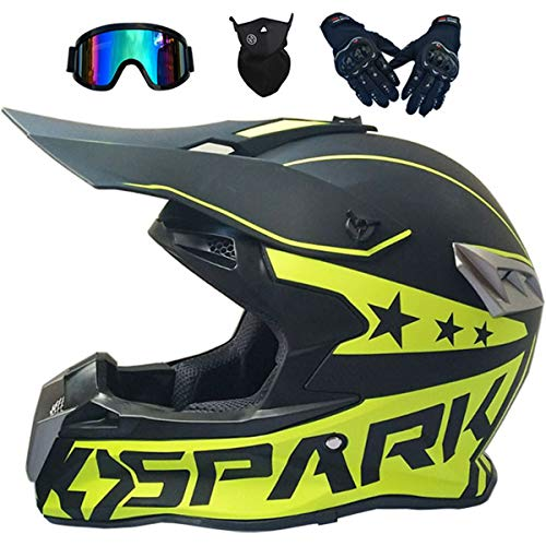 Cascos de Motocross MJH-02 Casco Moto Niño Adulto Homologado DOT Cascos Integrales...