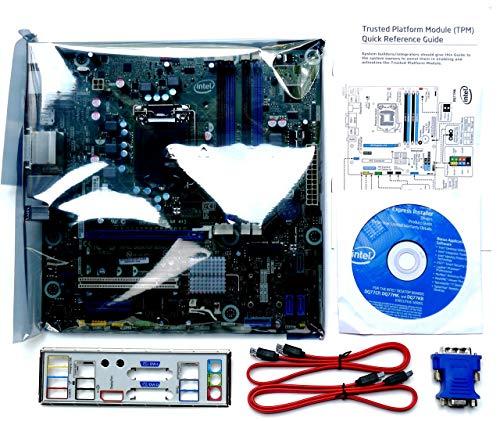 Intel Desktop Board BLKDQ77MK - Media Series - Motherboard - Micro ATX - LGA1155 Socket - Q77 (Renewed)