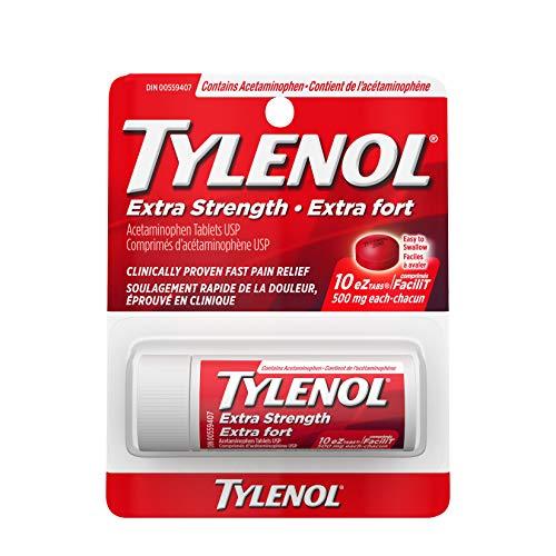 Tylenol Extra Strength Acetaminophen Tablets, 500 mg