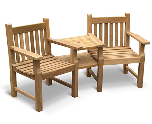 Jati Turner Teak Garden Love Seat - Tete a Tete 2 Seater Companion Seat Brand, Quality & Value