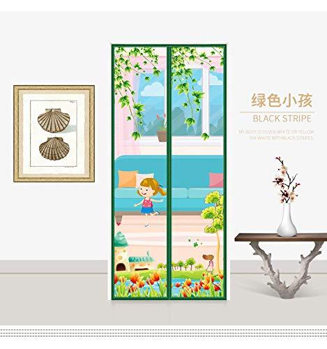 Klett-Anti-Mücken-Vorhang Schlafzimmer Bildschirm Tür Trennwand Vorhang Fliege Windschutz Fenster Vorhang Sommer Anti-Mücke Magnet Haushaltsgitter Vorhang A2 B100xH210