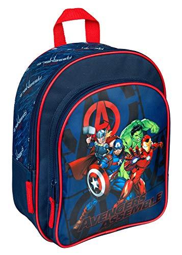Rucksack mit Vortasche, Marvels The Avengers, für Schule und Freizeit, ca. 31 x 25 x 10 cm