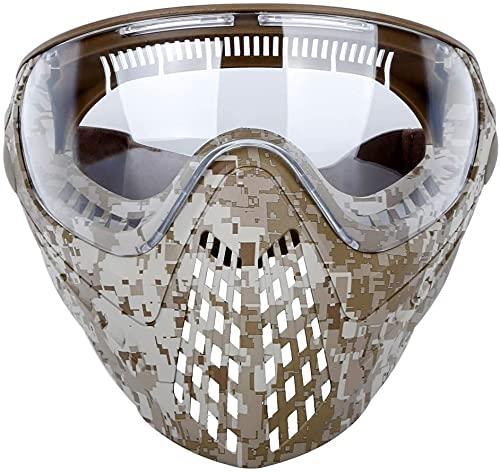 N\C Visera Táctica De Casco Airsoft con Protección De Seguridad Gafas Antivaho De Cara Completa Y Conector De Casco