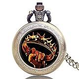 Reloj de bolsillo para hombre, diseño de Juego de Tronos, bronce envejecido, vintage, reloj de bolsillo antiguo, exquisito regalo para hombres