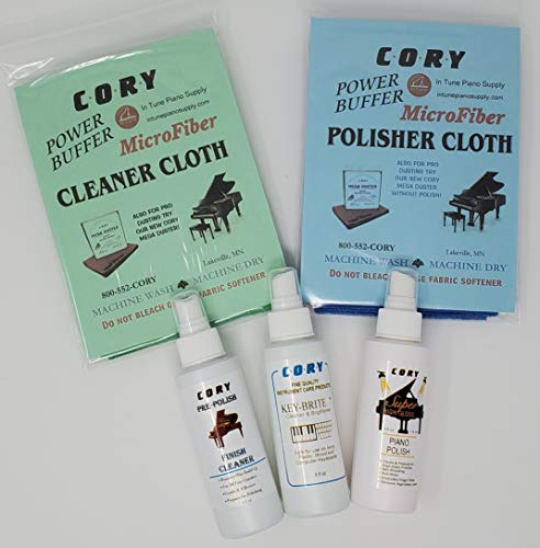 Complete Piano Finish Cleaning and Care Kit - For High Gloss Pianos