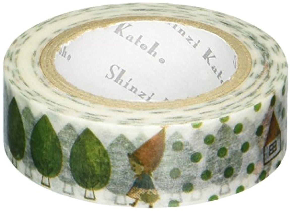 SEAL-DO Shinzi Katoh Washi Masking Tape, 15mm x 10m, Iin The Forest (ks-mt-10127)