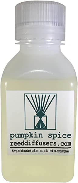 Pumpkin Spice Fragrance Reed Diffuser Oil Refill 8oz Made In The USA