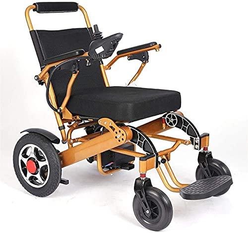 GJHK Silla de ruedas eléctrica de 250 W con motor dual inteligente 24 V12 AH, silla de ruedas eléctrica portátil, silla de ruedas eléctrica para personas con movilidad reducida, plata, ayuda d