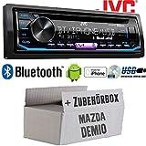 Autoradio Radio JVC KD-R992BT - Bluetooth | MP3 | USB | Android | Multicolor - Einbauzubehör - Einbauset für Mazda Demio - JUST SOUND best choice for caraudio
