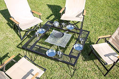 BUNDOK(バンドック)マルチ焚き火テーブルBD-239組み替え可能収納ケース付アウトドア