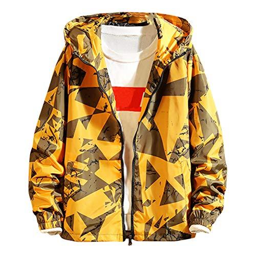 SHANGYI herenjack streetwear herfst dunne jas lange mouwen rits jas heren jas