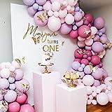 Rosaroter Ballongirlande, Bogen-Set, 114 Stück, verschiedene Größen von Rosa, Lila, Rosarot, Latex-Luftballons für DIY Party, Hochzeit, Geburtstag, Babyparty, Mädchen, Party-Dekorationen.