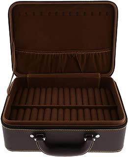 F Fityle Classic Jewelry Box Portable Zipper Jewellery Organizer Storage Case Display 31 x 22.5 x 11.2cm