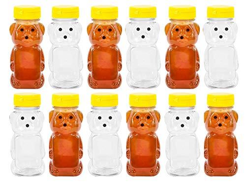 Kunststoff 8Oz Bär Squeeze Honig Flasche leer mit Gelb Klappverschluss Kappen Transparent/Gelb