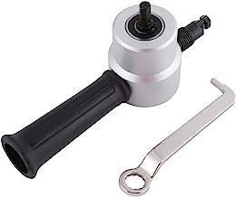 Cortador de chapa de doble cabezal, 1500-3000 RPM Cortador de chapa de corte redondo de 12 mm con un agujero mínimo de 12 mm, kit de herramientas de corte de nibbler de accesorio de taladro eléctrico