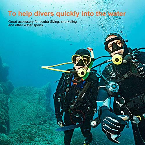 DAUERHAFT Buceo Cinta de Pesas Gran Accesorio Cinturón de Pesas Se Seca rápidamente Cinturón de Pesas de Buceo Hebilla de Leva de Acero Inoxidable 304, para Deportes acuáticos