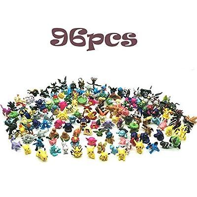 JIM - 96 pcs pokémon Figuras,Figura de Pokemon Adecuado para Fiestas, Regalos, fanáticos de Pokémon por JIM