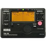 Korg TM50BK Instrument Tuner and Metronome, Black