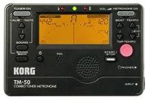 KORG TM-50, Chromatisches Stimmgerät / Tuner und Metronom, schwarz