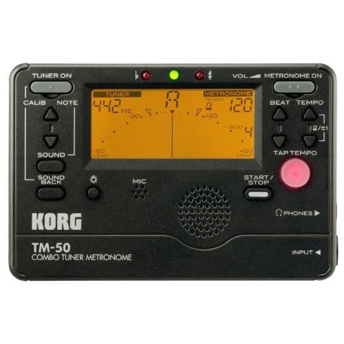 KORG TM-50 - Accordatore e metronomo cromatico, colore nero