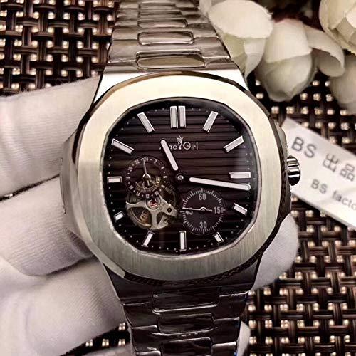 GFDSA Automatische horloges Luxe merk Automatisch mechanisch herenhorloge Sapphire Rose Gold Tourbillon Horloges Zilver Zwart Blauw Jumbo Skeleton horloge