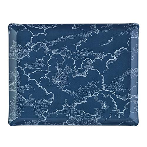 PLATEX 4037281187 Plateau Acrylique Nuage Bleu, ACRYLQUE, 37X28