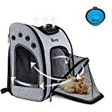 PETRIP Cat Carrier Backpacks Cat Carriers for Large Cats, Dog Backpack Carrier Dog Carrier Front Pack Travel Pet Carrier Backpack for Medium Small Cats Dogs for Travel & Hiking, Airline Approved