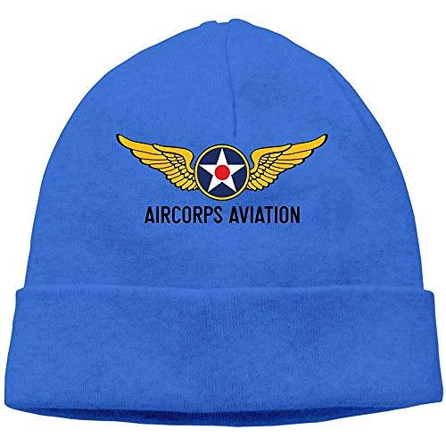 Logotipo de la Aviación del Ejército de EE. UU. Unisex Invierno Tejido de Lana Sombrero cálido Sombrero Diario Sombreros Holgados Gorro con Calavera