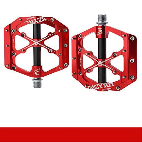 CZLABL Fietspedaal, 3 wiellagers, pedalen, chroom, molybdeen, Axis MTB-pedalen, fiets op straat, ultraseald, universele schroefdraad onderdelen