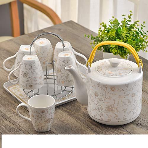 Best Buy! JYXJJKK Household Ceramic Cup Set,Kettle Cup Set-D
