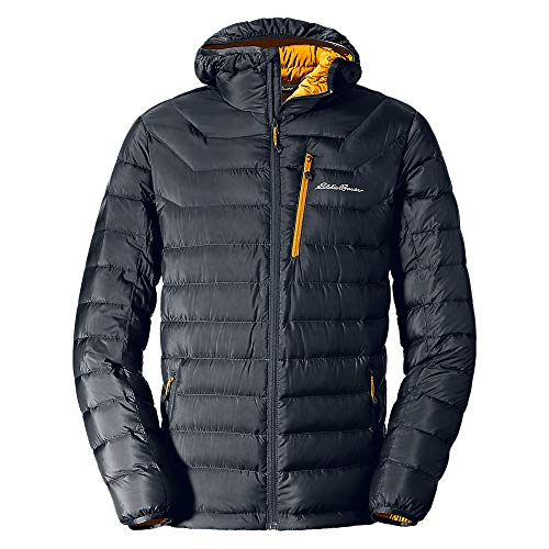 Eddie Bauer Men's Downlight Hooded Jacket, Storm Regular L