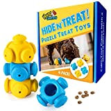 Puppy Puzzle Toys for Boredom, 4 Pack, Chew Teething and Treat Dispensing - for Puppies and Small Dogs - Endless Fun for Your Dog