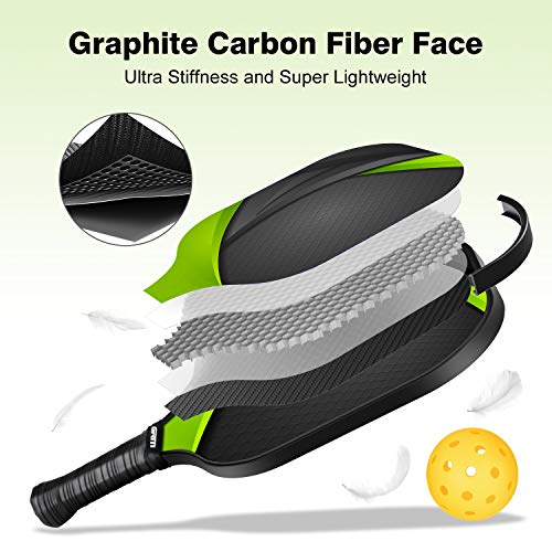 carbon fiber face pickleball paddle