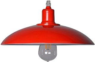 Moderno Lámpara de Techo Metal E27 Creatividad Lámpara de araña Retro Clásico Hierro Colgante de Luz para Dormitorio Sala Cocina Comedor Hotel, Rojo