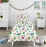 Bloomsbury Mill - Winter Wonderland - Diversión navideña - Juego de Cama para niño - Funda nórdica y Funda de Almohada 135cm x 200cm