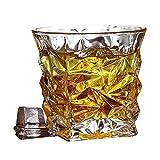 LCY Decantatore di Whisky Set Whisky Whisky Bicchieri, Vecchio Stile Muro Doppio Bicchiere di Cristallo, Bourbon Cocktail Scotch Vodka Occhiali, Bicchieri, Set di 4