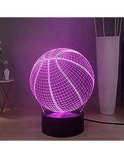 Cool Basketbal LED Night Light, Creative 16 kleuren bureaulamp Sport Series Touch Remote 3D Night Lamp Decor Light, beste cadeau voor jongeren, kinderen, mannen