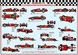 Posters du Monde - Póster de Ferrari F1 Campeones del Mundo LAMINADO/ENCAPSULADO mide aprox. 38 x 26 pulgadas (100 x 70 cm)