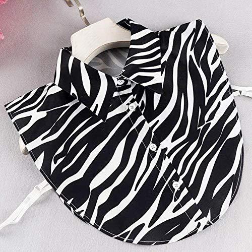 Damen-Kragenhemd, Chiffon, abnehmbare Kragen, Übergröße, XL, Reverskragen, Bluz,...