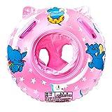 Swonuk Schwimmring Baby, Aufblasbare Schwimmhilfe mit Schwimmsitz aus PVC für Kleinkind 6 Monaten bis 3 Jahren, Rosa