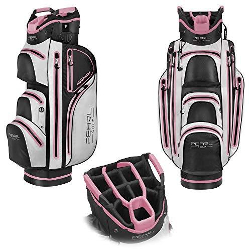 PearlGolf AQUAstar Cartbag - Wasserdicht - 14-Fach Unterteilung - Golfbag - NEU, Pink
