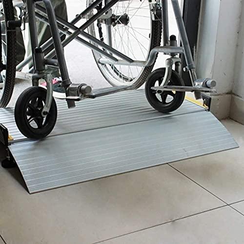 Rampas Rampas de Umbral para Sillas de Ruedas de 60mm de Altura, Rampa de Entrada de Aluminio para Puerta/Hogar Andador Bicicleta, Brige Ligero Rampa de Transición (Size : 102×74cm)