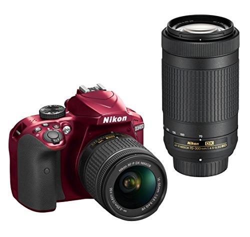 Nikon D3400 w/AF-P DX NIKKOR 18-55mm f/3.5-5.6G VR & AF-P DX NIKKOR 70-300mm f/4.5-6.3G ED (Red)