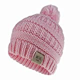 Xme Kinder Mütze aus Wolle, Strickmütze für Mädchen, Baseballhut aus Wolle für Herbst und Winter