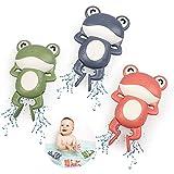 BelleStyle Baby Badespielzeug, Badewannenspielzeug für Baby Kinder Ab 1 2 3 4 Jahr, Wasserspielzeug Frösche Uhrwerk Aufzieh Schwimmbad Badewanne Bad Spielzeug für Kleinkinder Jungen Mädchen - 3 Stück
