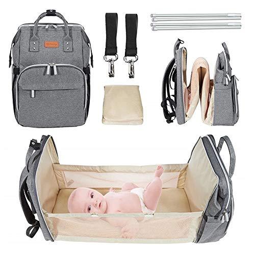 NHK-MX Mochilas para Pañales de Viaje Gran Capacidad Adecuada para Viajes de Madre Impermeable Maternal Bolso Multifuncional para la Madre y el Cuidado del Bebé