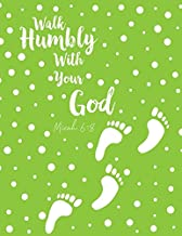 Micah 6:8 Walk Humbly With Your God: Bible Verse Quote Cover Composition Notebook Large