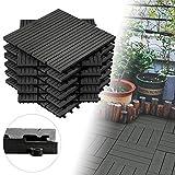 Froadp 11 pièces WPC Carrelage de sol en Plastique Composite Revêtement de sol...